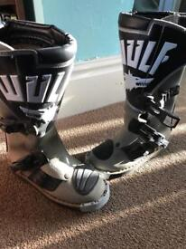 Boys wolf motocross/enduro bike boots size 13