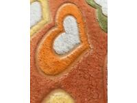 POLYESTER HEARTS SINGLE BED SHEET