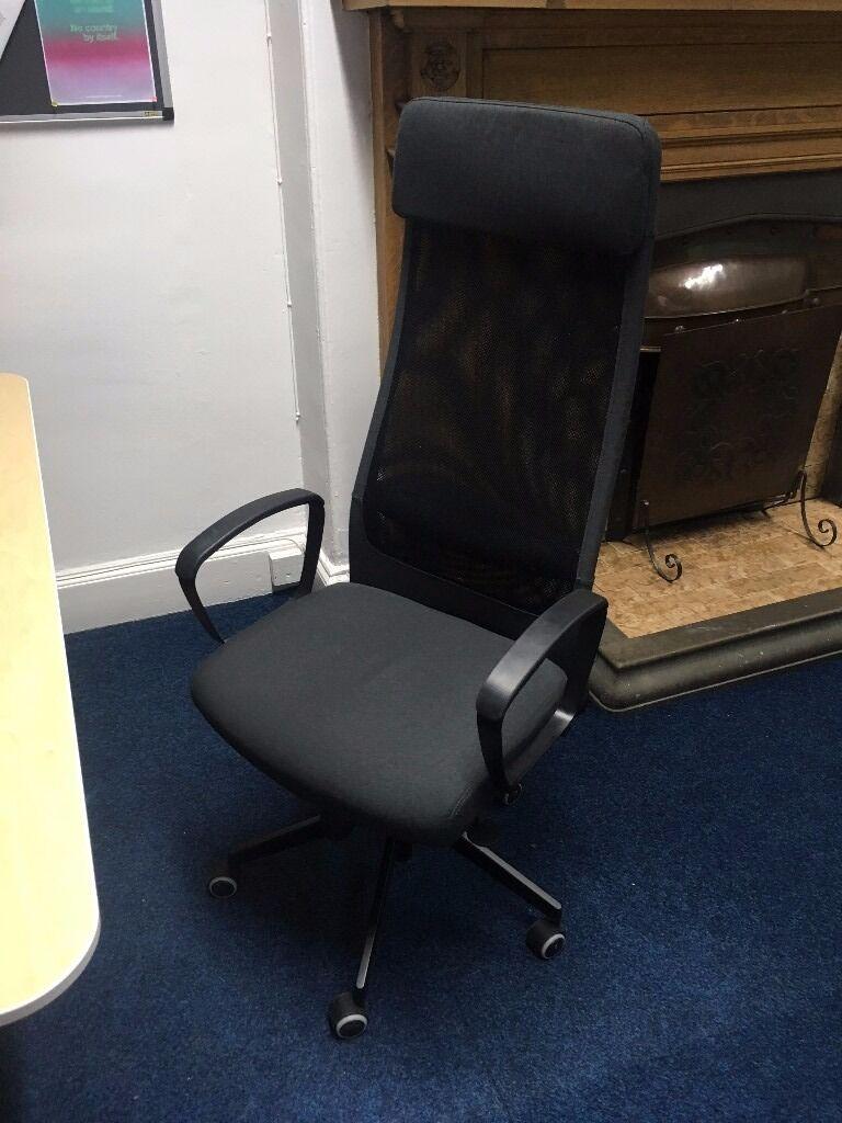 Ikea Markus Swivel Office Chair In Dark Grey