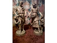 4SALE,A PAIR OF. FRENCH PORECLAIN FIGURES,BY FRENCH SCUPTOR F MOREAU