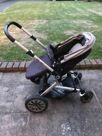 Luxury Baby Pram Stroller Pushchair plus Carrycot Buggy Travel System *Reduced Price!*