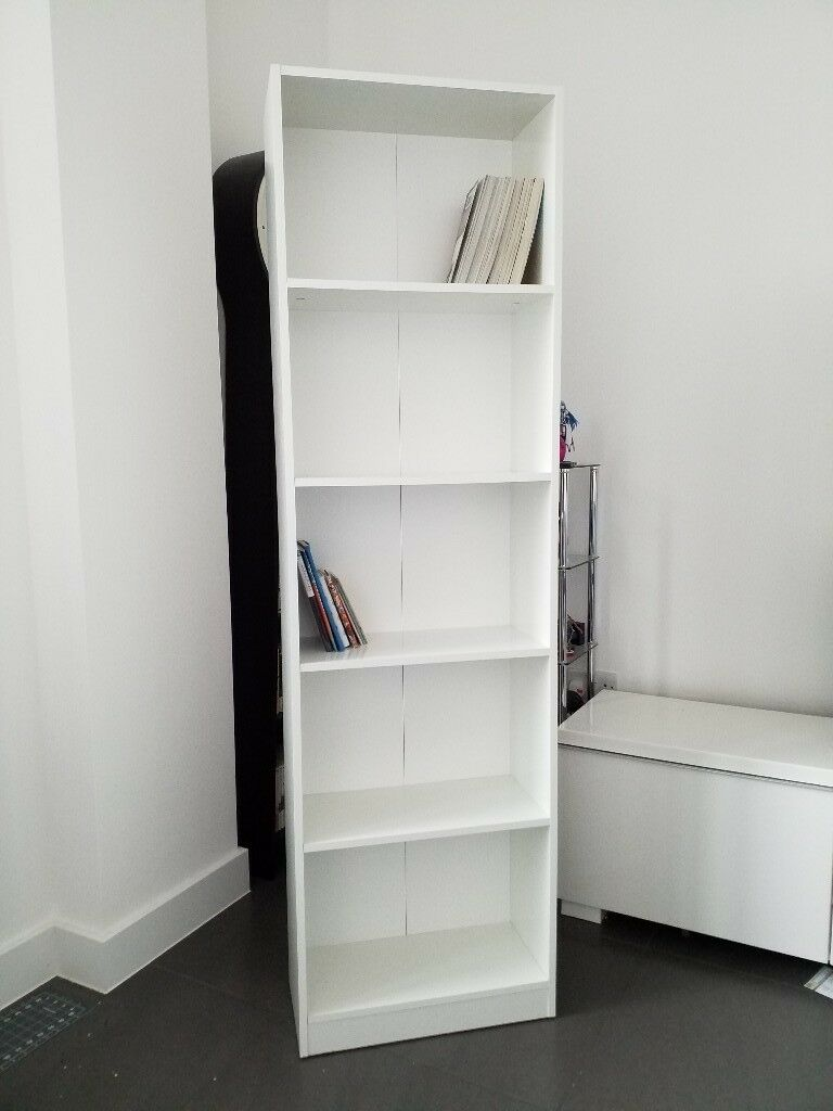 Tall White Bookcase Bookshelf