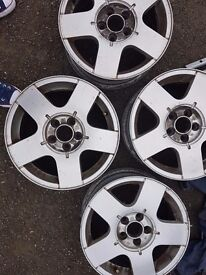 5 stud alloys and nearly new tyres