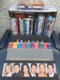 Collection of Kids DVDs including almost complete Friends box set.
