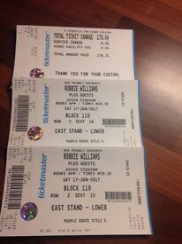 Two Robbie Williams tickets
