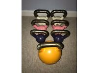 Wolverson Fitness Cast Iron Kettlebell Pairs (6kg, 8kg, 10kg) & 16kg Competition Russian Kettlebell