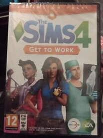Sims 4 Get to Work expansion pack unopened