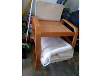 ikea poang chair and footrest