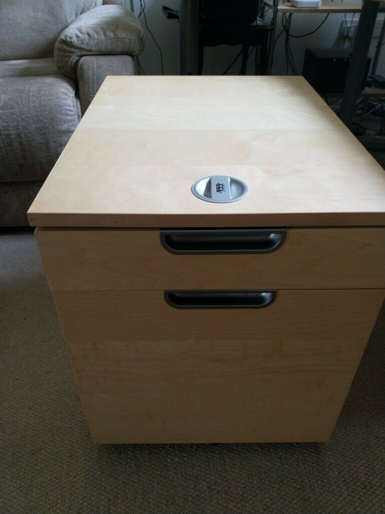 IKEA Galant drawer unit with drop-file storage on castors birch veneer -  used, good condition | in Oxford, Oxfordshire | Gumtree