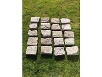 20x Granite stones / cobbles