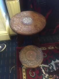 handmade wood round table