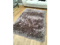 Dunelm jewel shaggy rug - 120cm x 170cm - mink colour