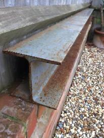 Steel beam joist RSJ lintel 150mm square