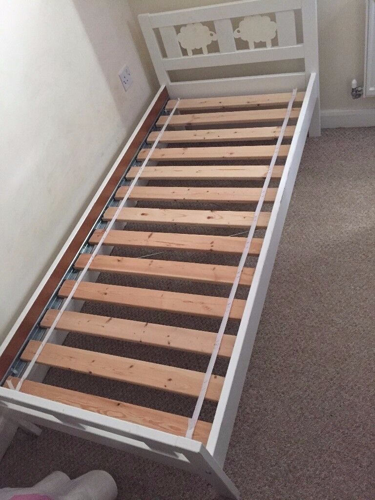 Bed frame with slatted bed base almost new!!!