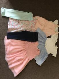 Baby girl sumner clothes 9-12 months