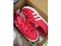 Brand new size 5 pink Adidas nizza