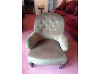 Victorian Button-Back Chair - Green