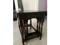 Vintage Dark Wood Nested Tables Possibly pre 1960's