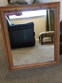 Light pine mirror