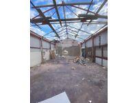 Steel Framed Building - Dismantled to Ship - 22m x 7m (70ft x 22ft) 50mm insulation