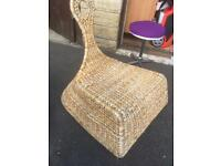 Wicker rocker chair