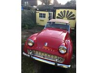 1962 Triumph TR3A. Outstanding condition LHD. California import. No rust!