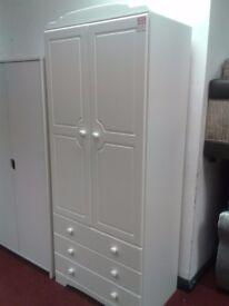 WARDROBE WHITE NORDIC 2 DOOR +3DRAWER