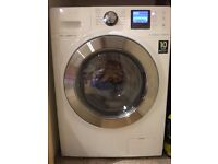 Samsung WD12J8400GW Freestanding Washer Dryer, 12kg Wash/8kg Dry Load, A Energy Rating, White