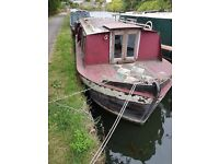 Project Boat - 25ft Springer narrowboat with engine fitted