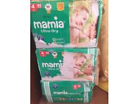 Size 4, Mamia ultra-dry nappy,(each box has 84 nappies), 5 pounds each box, 14 pounds for 3