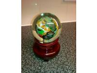 Stunning Handpainted Chinese Tiger Globe on stand. £20.00. Ovno.