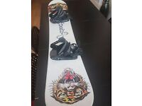 Men's Ed Hardy 155 Snowboard with Bindings