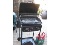 Gas Barbeque bought from B&Q for caravan use - used once - complete with gas bott