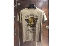 Grey Bear Hug T-Shirt with Big Cats print