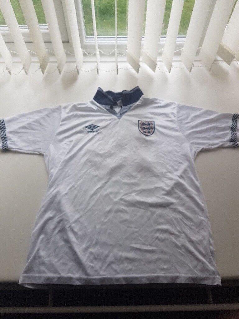 0214b5c97b2 England 1990 Umbro Remake Shirt 19 Gascoigne L   in Kennington ...
