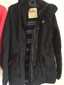 Hollister coat navy blue size small