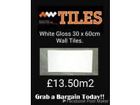White Gloss 30 x 60cm wall tiles