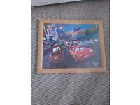 Pixar Cars picture framed