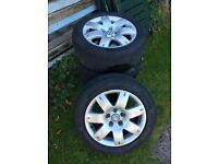 """VW Passat Golf Caddy 16"""" alloy wheels & tyres 205/55/R16"""