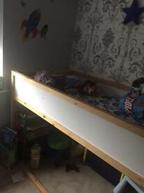 Kids top bunk bed with space under for play