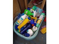 Free basket of cleaning products