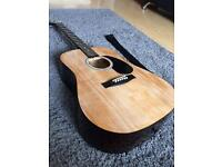 Acoustic Guitar With Strap (rustic look)