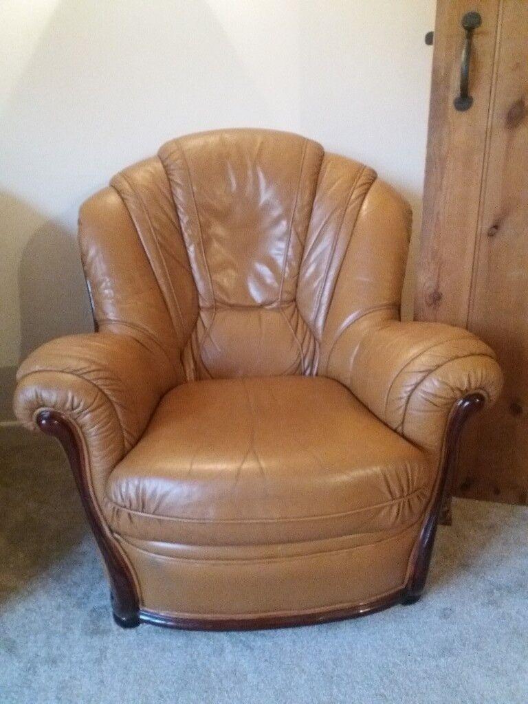 Incredible Leather Sofa And 2 Armchairs Excellent Condition In Woodbridge Suffolk Gumtree Frankydiablos Diy Chair Ideas Frankydiabloscom