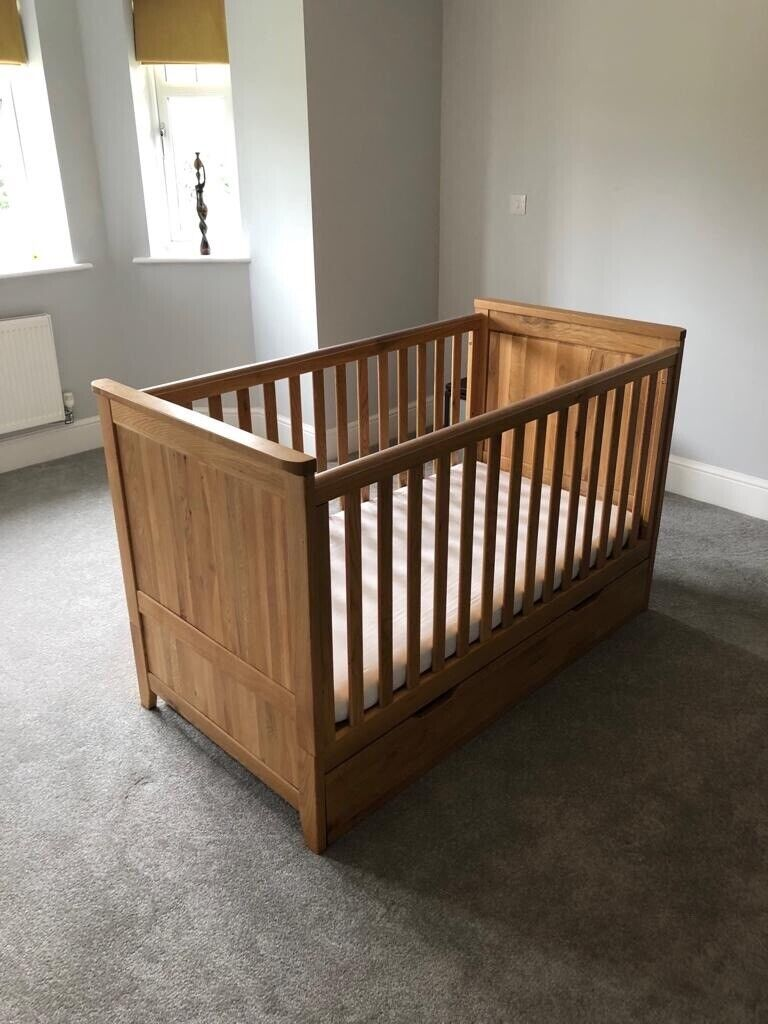 Oak Furniture Land Cot Bed And Storage