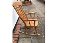 Chunky pine rocking chair