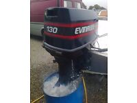 Evinrude 130 HP V4 outboard engine, fully serviced, and everything required to fit to your boat