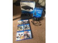 Playstation 4 - 500gb - Used about 3 times. Package wireless headphones, games and controller