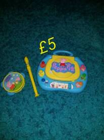 Peppa pig bundle of toys music and learn Shape learn