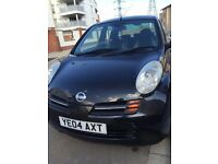 5 door BLACK NISSAN MICRA 2004