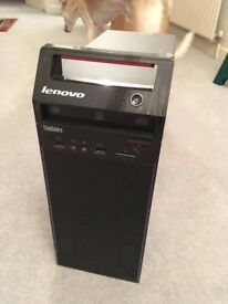 Lenovo E73 Desktop (ThinkCentre) Windows 7 Pro/W10Pro 500GB HDD 4GB RAM Core i3, Model 10DS0015UK